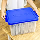 Bankers Box Heavy Duty Plastic File Box with