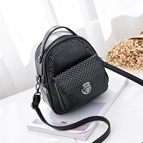 Aoligei Sac voyage sac à dos de fille sac étudiant double sac à bandoulière tendance mode élégant centaines A