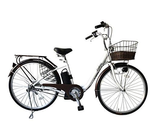 LUPINUS by SUISUI ルピナスバイスイスイ 26インチ電動アシスト自転車 LP-DCY09T シングルギア アシスト切り替え3モード LEDライト B079VF223X ホワイト ホワイト