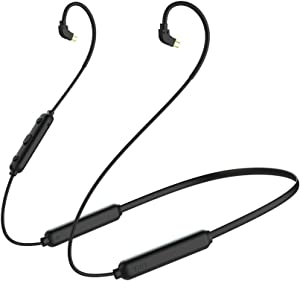 Bluetooth Headphone Cable,OKCSC BT3S Wireless Earbuds Bluetooth 5.0 Cable 0.75mm 2pin Supporting Apt-x & AAC,20 Hours Playback Earphone Bluetooth Connector for KZ AS10 zst;TRN v80 x6 IM2(0.75mm Jack)