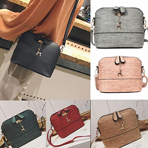 Bag Handbag Women Bags Casual New Sixcup® Leather Handbag Shoulder Small Red Messenger Bags Leather PU Vintage Shell xFxZw4Er