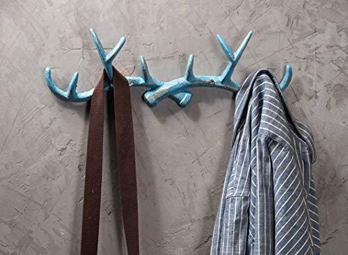 Zhoyea Durable Vintage Wall Hook Towel Coat Rack Hanger Holder Bathroom Kitchen Blue