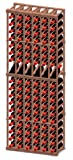 Vinotemp RACK-6CD-PR 6 Column Premium Redwood 180 Bottle Rack w/ Display