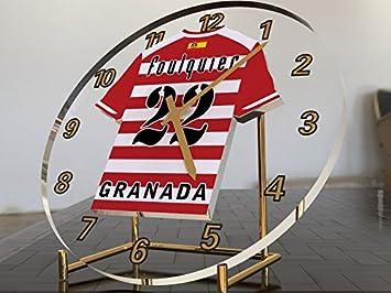 Reloj de sobremesa, diseño de camiseta de fútbol de La Liga española, hombre, Granada CF: Amazon.es: Deportes y aire libre