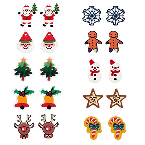 Kids Christmas Stud Earring Se...