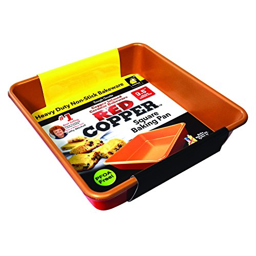 "Red Copper 9.5"" Square Baking Pan by BulbHead"