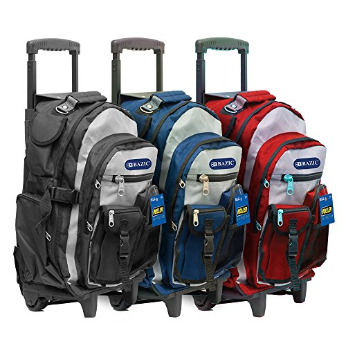 """Bazic 1010 18"""" Two-Tone Rolling Backpack"""