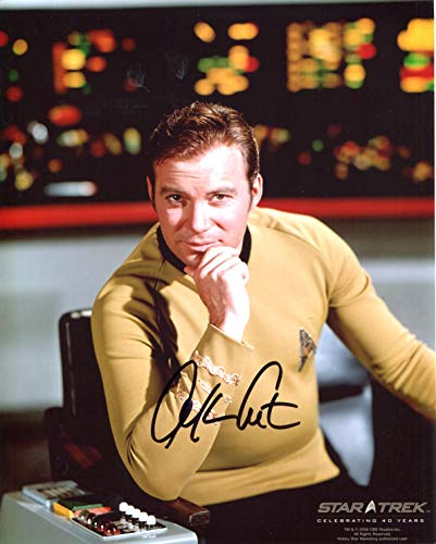 William Shatner Signed/Autographed Star Trek TOS 8x10 Glossy Photo As Captain James T. Kirk. Includes FANEXPO Certificate of Authenticity and Proof. Entertainment Autograph Original. from Star League Sports