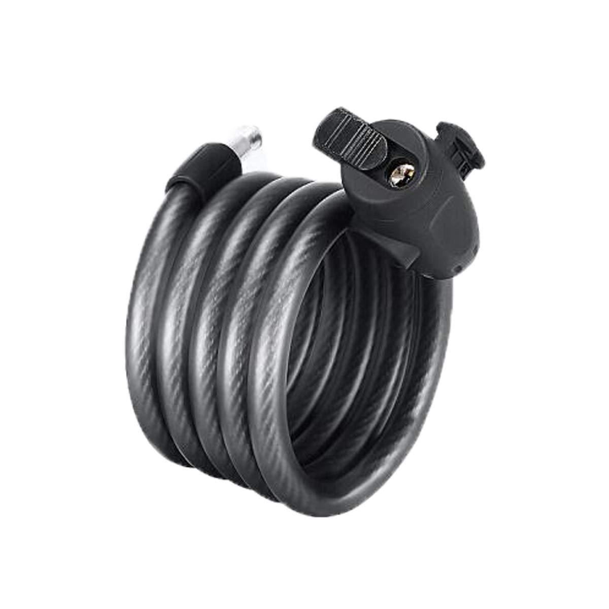 HUIJUNWENTI Bicycle Lock, Portable Ring Key Lock, Car Lock, Motorcycle Lock 1.1 M, Black Safe and Reliable, (Color : Black, Size : 1.5 m)