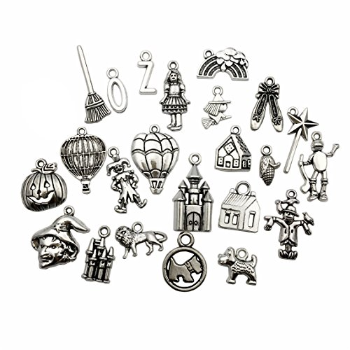 The Wizard of Oz Charms-100g (about 70-75pcs) Craft Supplies Mixed Pendants Beads Charms Pendants for Crafting, Jewelry Findings Making Accessory For DIY Necklace Bracelet M38 (Wizard of Oz Charm)
