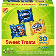 Full Size Flavor Crush the rush and make home-prepped meals a hit for kids and adults. With the Nabisco Sweet Treats Cookie Mix, which includes full size versions of classic favorites, you'll please snackers of any age. This assortment of sweet snack...