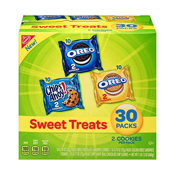 Nabisco Cookies Sweet Treats Variety Pack Cookies – with Oreo, Chips Ahoy,...