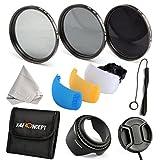 K&F Concept 52mm Filter Kit ND2 ND4 ND8 Neutral Density ND For Nikon D3200 D5100 D3100 D5200 18-55mm 200-400mm Camera Lenses + Flash Diffuser + Lens Hood + Lens Cap + Cap Keeper + Cleaning Cloth + Shockproof Filter Bag