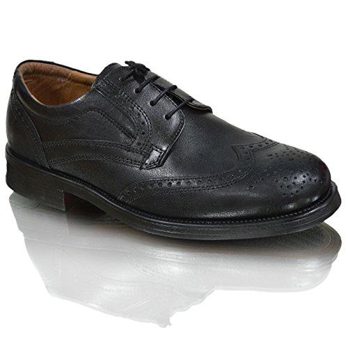 oaktrak pinham schwarz, braun oder castagnia Leder Brogues Oxford Works Herren Schuhe Black Brogues 2