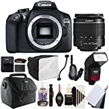 Canon EOS 1300D 18MP Digital SLR Camera with 18-55mm EF-IS STM Lens , SFD-740C Speedlite Flash and Accessory Kit