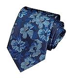 Men Black Floral Tie Neckwear Necktie Pattern by Designer Best Gifts for Friends