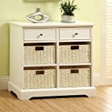 Cheap Garth Basket Cabinet with 2 Drawers