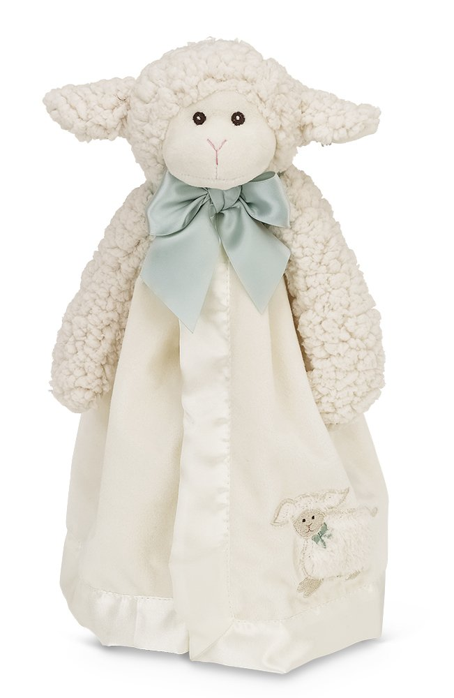Bearington Baby Lamby Snuggler, White Lamb Plush Stuffed Animal Security Blanket, Lovey 15''