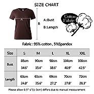 YITAN Women Tees Teen Girl Tops Graphic Cute Funny T shirt