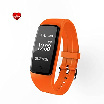 DUWIN Pulsera Actividad, Pulsómetro Reloj Fitness Impermeable IP67 Pulsera Inteligente con Monitor de Ritmo Cardíaco