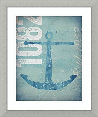 - Amanti Art Framed Home Wall Art Prints | Nautical II: Anchor by Stephen Fowler | Casual Decor