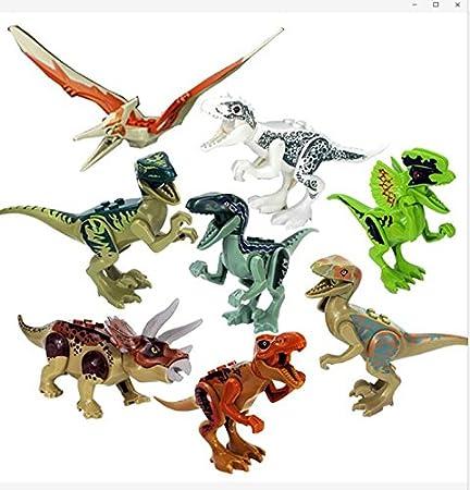 Dinosaurier Spielzeug:8 x Dinosaur toy building blocks. Greshare