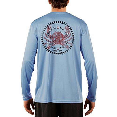 Vintage Crab Men's UPF 50+ Performance T-Shirt X-Large Columbia Blue ()