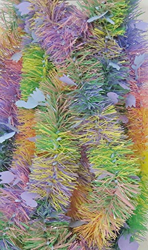 BIG CITY BARGAINS Easter Garland 15 Feet Long - Made in The USA (Multi Pastel Rabbits & Chicks & -
