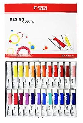 TT Art T-Prime Artist Professional Design Color Colour Paint Painting 48 Colors 20ml Tubes Set