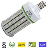 Dephen 100W Led Corn Light Bulb, Mogul E39 Base, 13500 Lumens, 5000K, 700W Incandescent Equivalent, Replacement for Metal Halide HID, CFL, HPS Bulbs