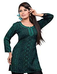 India Tunic Top Kurti Womens Printed Blouse Indian Clothing