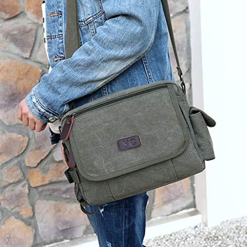S Casual A Canvas Rxf color Green Messenger Shoulder Men's Bag Size Ff7zU