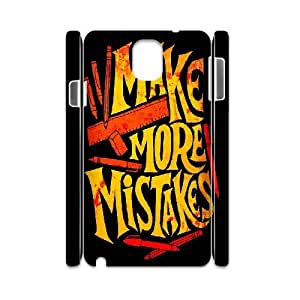 3D Jumphigh Typography Mistakes Case for Samsung Galaxy Note 3, with White