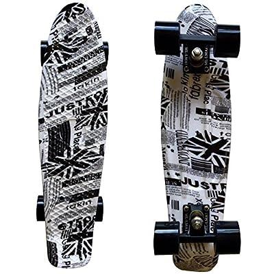 Lmai 22'' Cruiser Skateboard Grapnic Floral Galaxy Complete Skateboard (Newspaper) : Sports & Outdoors