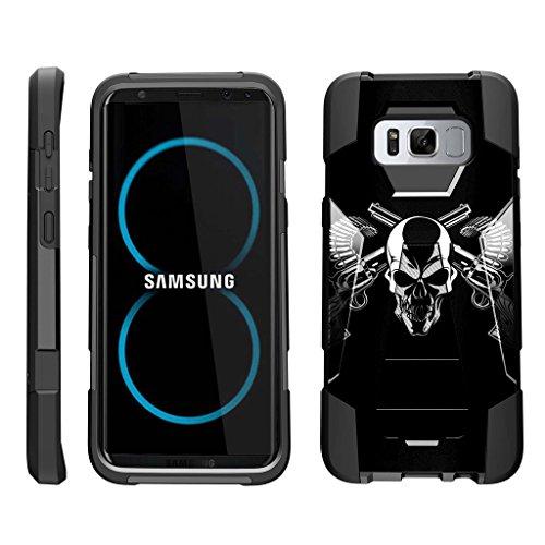 Skull Pattern Hard Case (TurtleArmor   Samsung Galaxy S8 Case   G950 [Dynamic Shell] Hybrid Dual Layer Hard Shell Kickstand Silicone Case - Mercenary Skull)