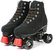 Women's Roller Skates High-top Roller Skates Four-Wheel Roller Skates Roller Skates for Girls/Boys/Ad