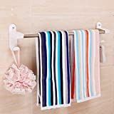 HOMEE Bathroom Suction Cup Towel Rack Suction Wall Toilet Stainless Steel Single Pole Towel Bar