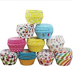 Kingso moldes papel copa de horneado 100pcs para magdalenas pastel tarta cupcakes hogar - Moldes papel magdalenas ...