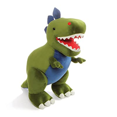 "GUND Jumbo Chomper Dinosaur T-Rex Stuffed Animal Plush, Green, 25"": Toys & Games"