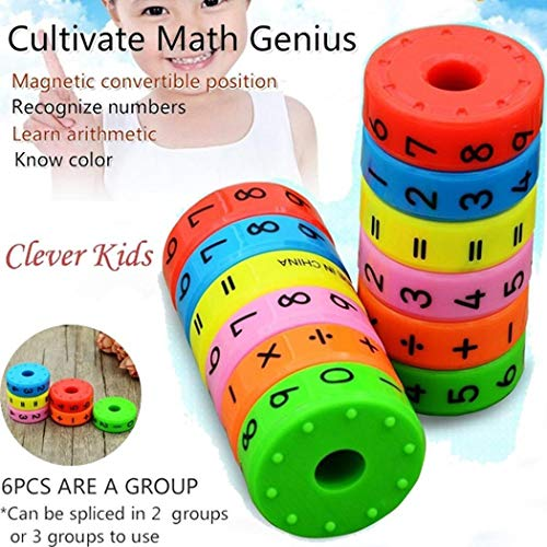 [해외]Eubell 마그네틱 수학 장난감 자석 숫자 및 상징 수학 기술 다채로운 유치원 교육 도구 수학 블록 아이들을 위한 학습 장난감 1개 / Eubell 마그네틱 수학 장난감 자석 숫자 및 상징 수학 기술 다채로운 유치원 교육 도구 수학 블록 아이들을 위한 ...