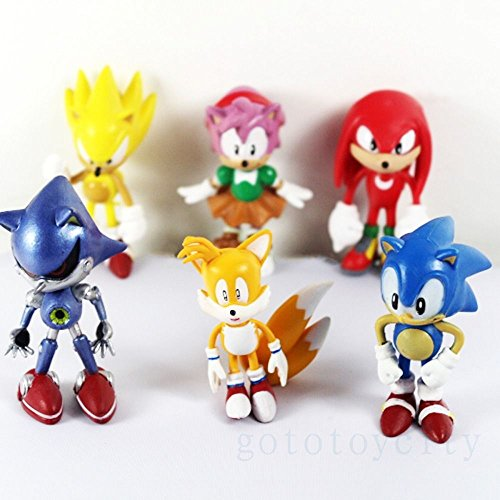 Land Shark Dog Costume (6Pcs set The HEDGEHOG Super Sonic Characters PVC Figure Loose)