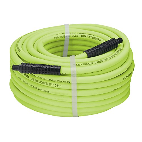 Flexzilla Air Hose, 3/8 in. x 100 ft., 1/4 in. MNPT Fittings, Heavy Duty, Lightweight, Hybrid, ZillaGreen - - Where Shop In Boston To Outlets