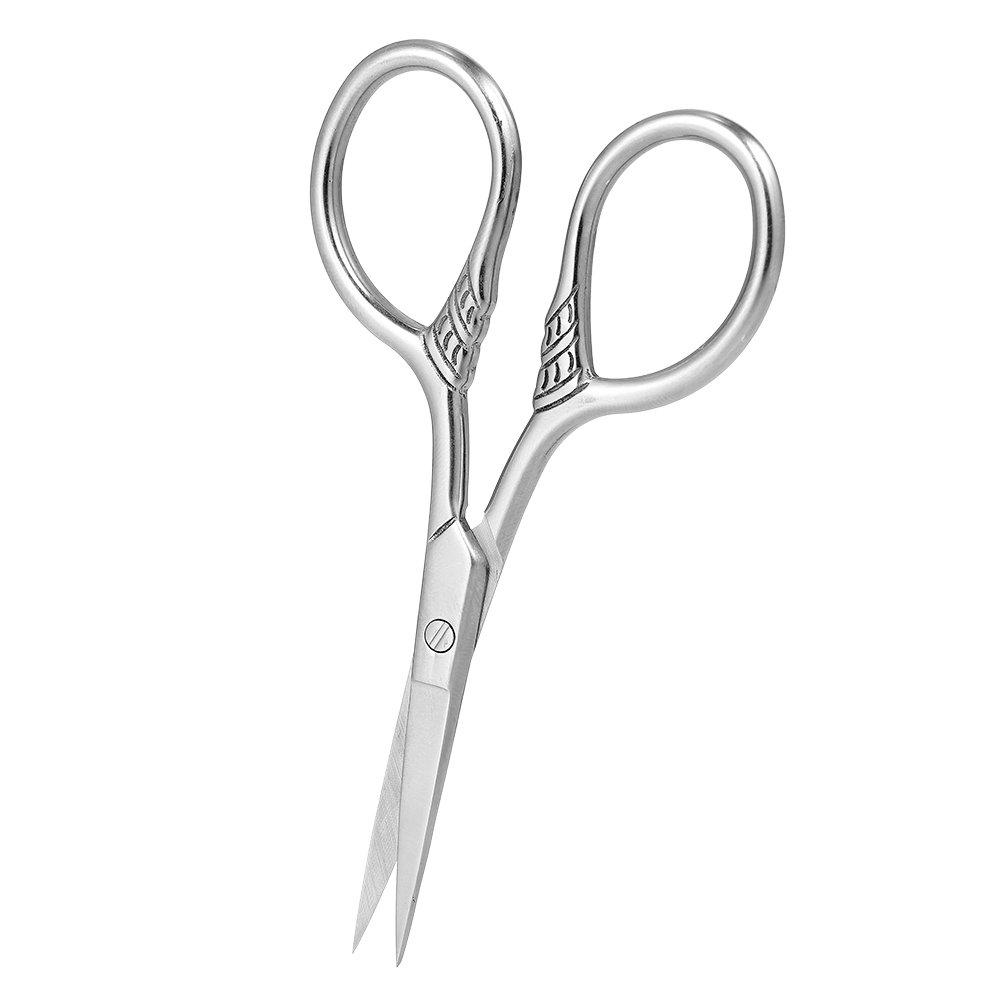 Men's Beard Mustache Scissors Stainless Steel Eyebrow Nose Trimmer Shear Scissor for Barber Home Use Focstar