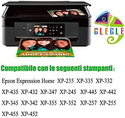 GLEGLE 29XL Compatible Tinta Cartuchos 15 Reemplazo para Epson Expression Home XP-255 XP-245 XP-247 XP-235 XP-352 XP-332 XP-442 XP-342 XP-257 XP-355 ...
