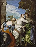 High Quality Polyster Canvas ,the Vivid Art Decorative Prints On Canvas Of Oil Painting 'Paolo Veronese - The Choice Between Virtue And Vice, C. 1580', 10x13 Inch / 25x33 Cm Is Best For Game Room Artwork And Home Artwork And Gifts