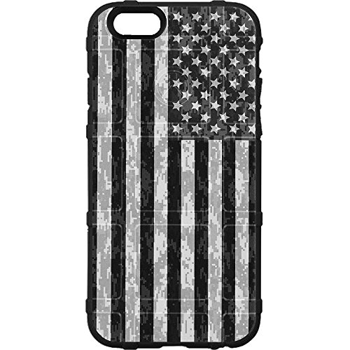 EGO Tactical Limited Edition Design UV-Printed onto a MAG849 Field Case Compatible with Apple iPhone 7 + Plus, 8 + Plus, 7+, 8+ B/W USA Camo Flag ()