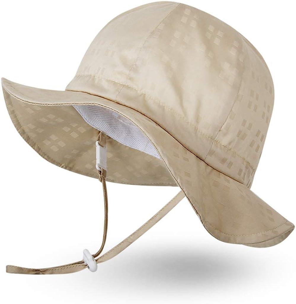 Ami/&Li tots Unisex Child Adjustable Wide Brim Sun Protection Hat UPF 50 Sunhat for Baby Girl Boy Infant Kids Toddler