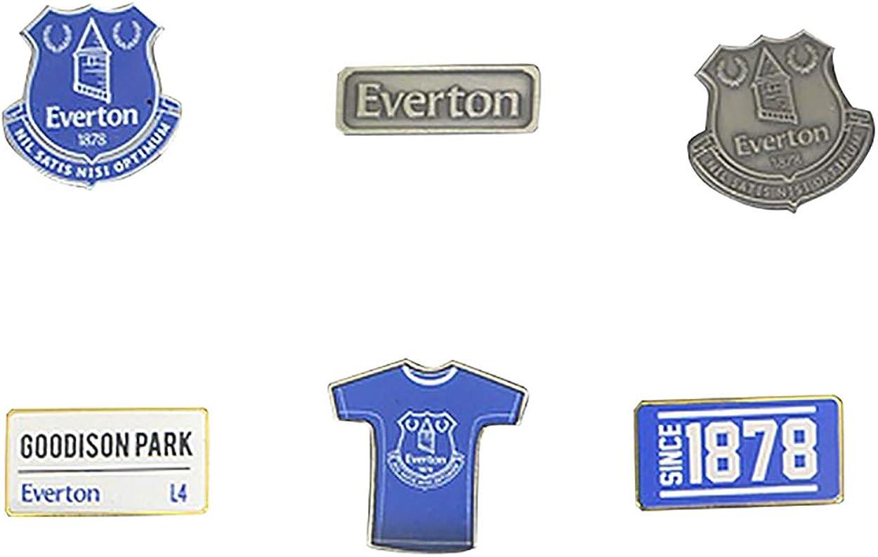 Everton F.C Ensemble de 6 Badges Officiels