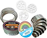 K&S Artisan Round Cookie Biscuit Cutter set Heavy Duty 11 NUMBERED Circle Pastry Cutters for Donuts Scone Pizza Commercial Quality 100% Stainless Steel Rings Baking molds 3 FREE Cookie Coffee Stencils