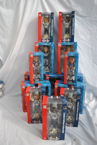 New England Patriots Super Bowl Dynasty Set Bobbleheads and Globes collection ()